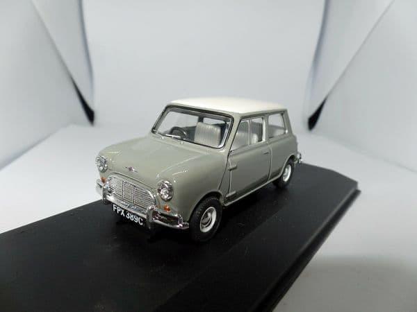 Corgi Lledo Vanguards VA02537 1/43 Scale Austin Mini MkI Cooper Tweed Grey and Old English White